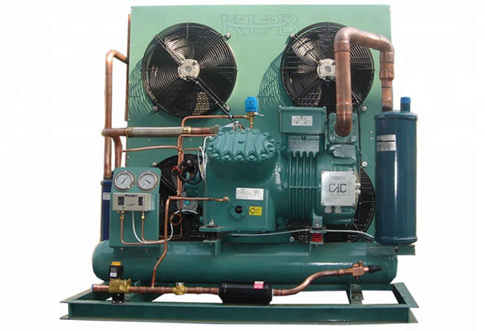 Commercial Bitzer Condensing Unit , Bitzer Semi Hermetic Reciprocating Refrigeration Compressor Compact Structure
